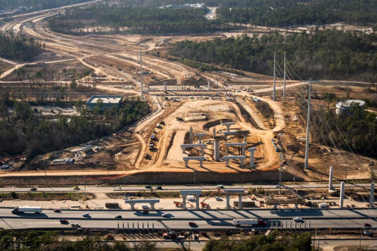 Ariel view of Grand Parkway Project